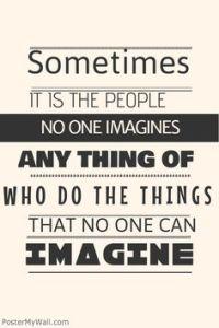 no can imagine