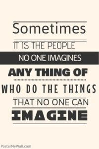 no can imagine